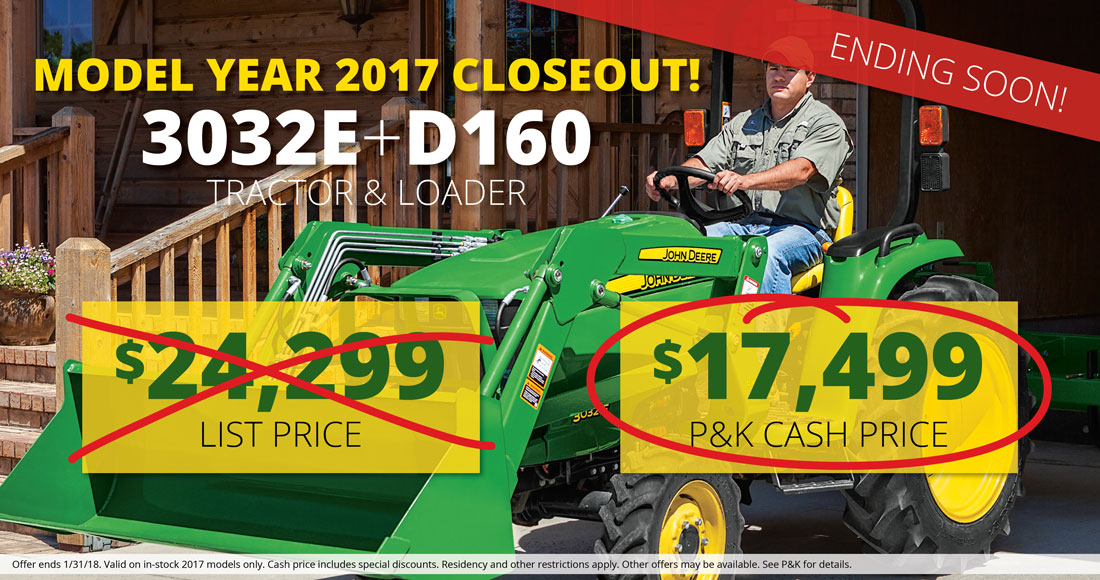 Model Year 2017 Closeout Special - P&K Equipment
