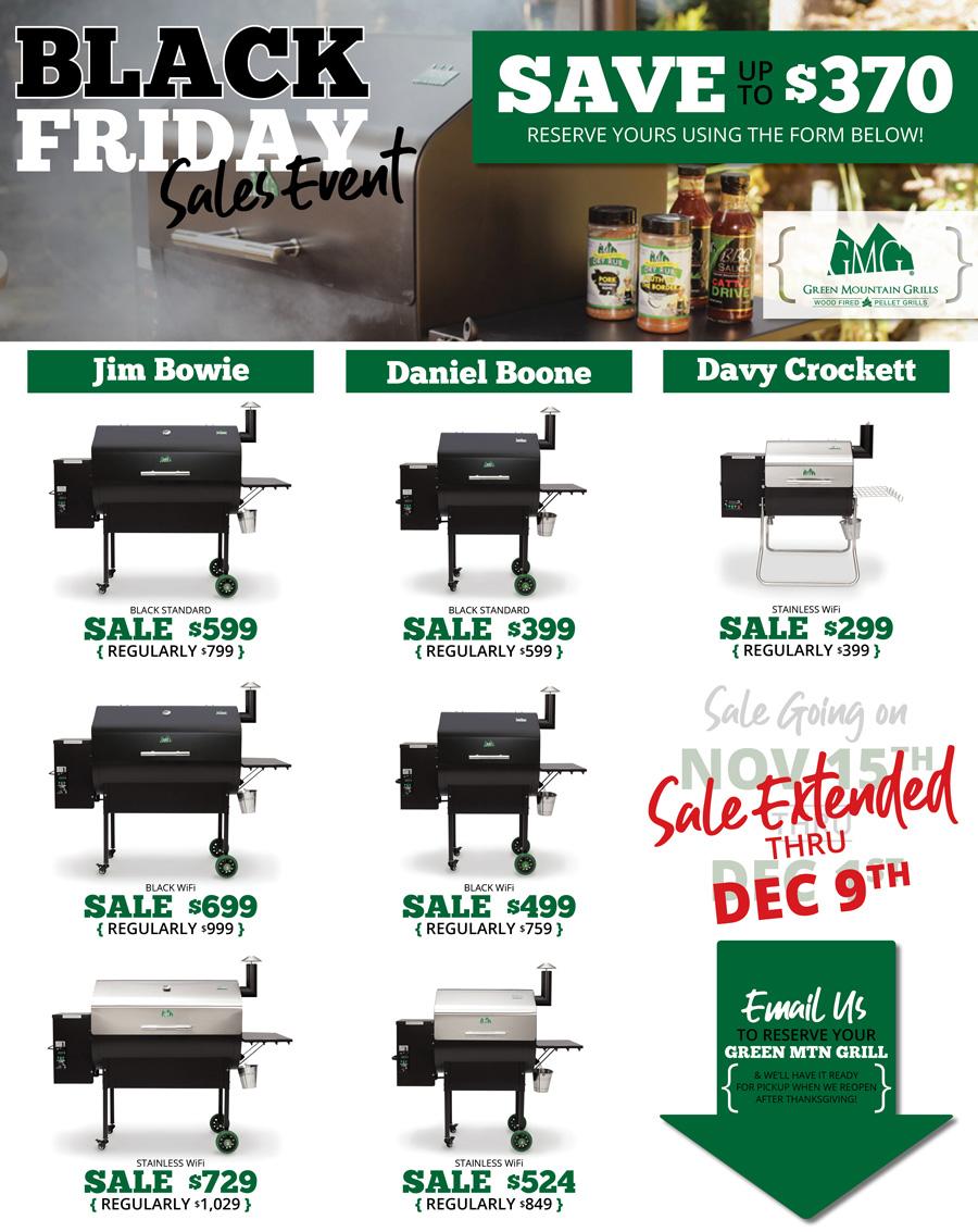 df83baf158e 2018 Green Mountain Grill Black Friday Sale - P&K Equipment