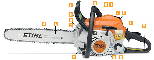 Common features of the STIHL Chainsaws purchased from P&K!