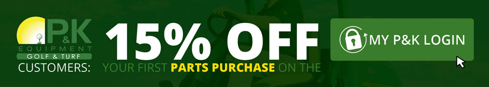 Golf & Sports Turf Customers get 15% off the first purchase through MY P&K LOGIN
