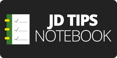 JD Tips Notebook