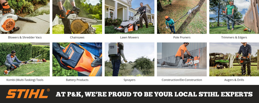Select your local P&K STIHL location from the drop down list below.