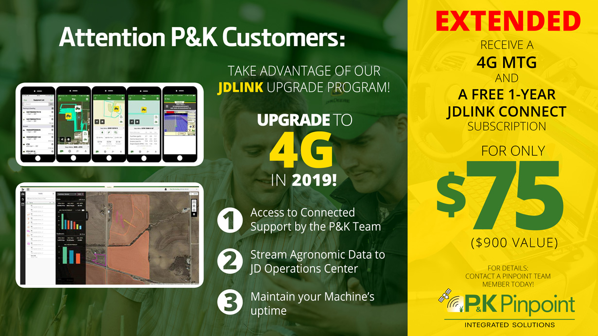 P&K Customers upgrade JDLINK to 4G Extended