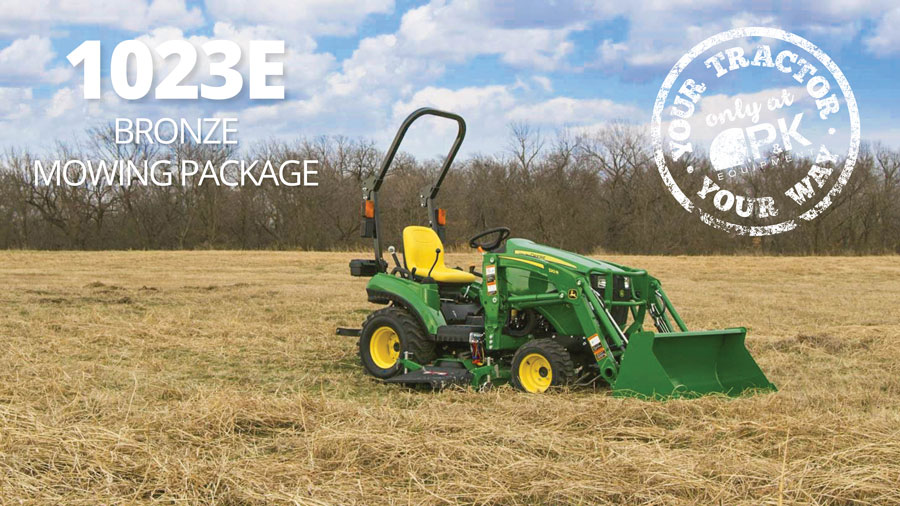 John Deere 1023E Bronze Mowing Package is just $199 per month at P&K!