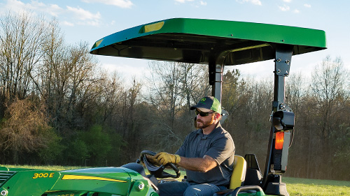 Stay protected from the elements with a canopy on your tractor!