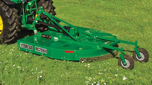 Heavy-duty Rotary Cutters from P&K are equipped with slip clutch and safety chains!